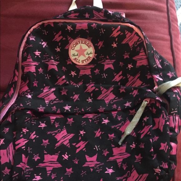 a652ff916d Converse Handbags - Pink and black converse backpack